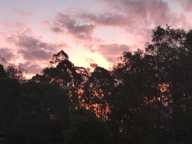 sunset over Black Mountain
