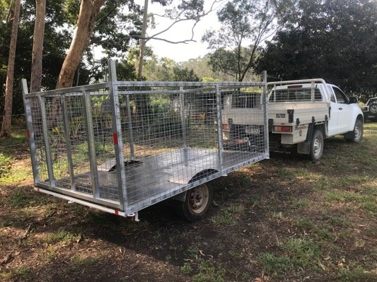 Caged box trailer project