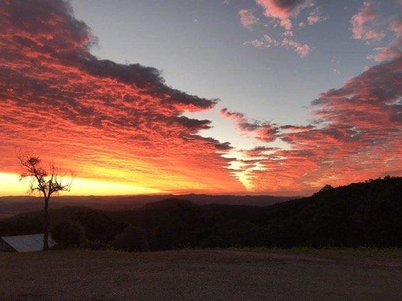 Sunset over Noosa Hinterland