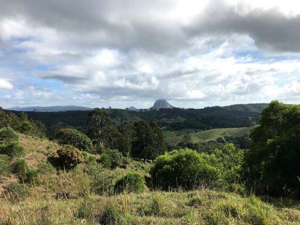 Hillside terrain towards Hinterland