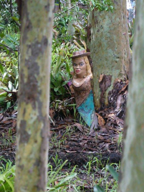 scary garden troll woman