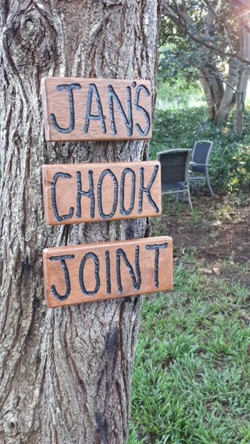 Jans chook joint sign