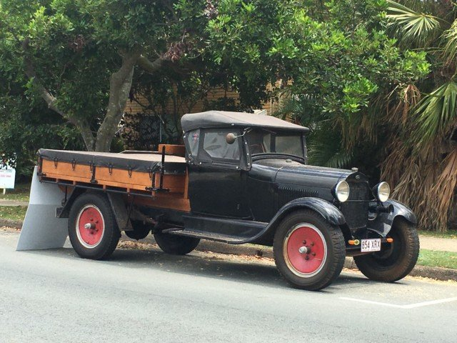 antique Ford truck ute