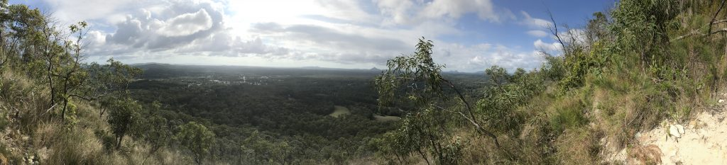 Cooroorah mountatain panorama of Pomona area