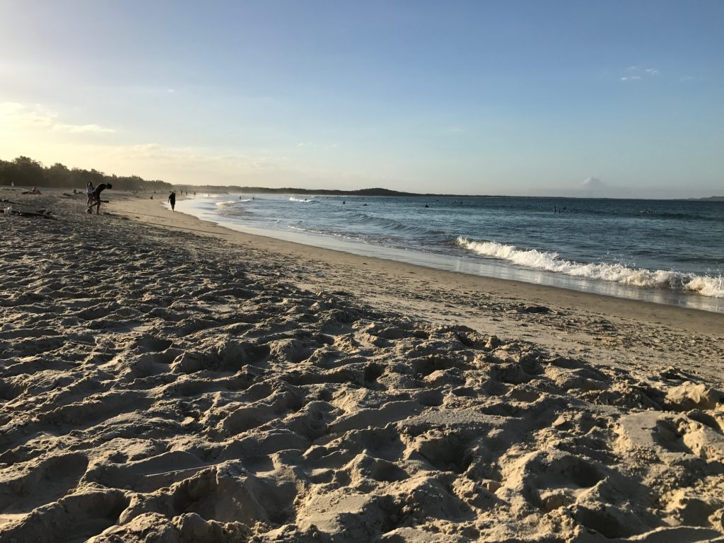 Noosa Beach near sunset